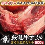 宮崎県産 黒毛和牛リブロース・サーロイン厳選牛すじ肉 300g おでんの牛すじ、土手焼き、すじポン、カレーや煮込み料理などにおすすめ!