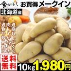 ジャガイモ 【お買得】 北海道産 メークイン 10kg1箱 送料無料 LM〜Lサイズ じゃがいも 馬鈴薯 煮くずれしにくい 定番野菜 肉じゃが カレー ポテト