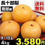 梨 南部産 長十郎梨 4kg1箱 送料無料 ご家庭用 なし 食品