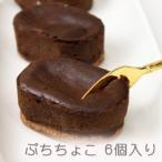 半生チョコレートケーキ、ぷっちょこ (プチ・ショコラ) 6個入り