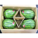 マダーボールすいか(秀・10Kg)2.5kg×4玉 北海道産 小玉スイカ 出荷時期:7〜8月