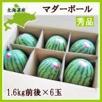 マダーボールすいか(秀・10Kg)1.6kg×6玉 北海道産 小玉スイカ 出荷時期:7〜8月