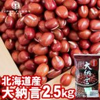 小豆 大納言小豆 国産 北海道産 大粒 2.5kg (250g×10袋) ケース販売 小分け 業務用 大容量 お徳用