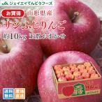 りんご 訳あり サンふじ 約10kg リンゴ ご自宅用 山形県産 林檎 山形  (一部地域別途送料)