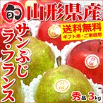 お歳暮 ギフト 冬の果実2色詰め合わせ 3kg (贈答用/秀品) りんご 山形県産 御歳暮 贈り物 果物 フルーツ 送料無料 お取り寄せ