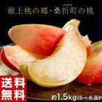 桃 もも 詰め合わせ 福島県 桑折町 献上桃の郷 特選 雅 約1.5kg 5〜6玉 送料無料 産地直送