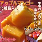 アップルマンゴー メキシコ産・ブラジル産 約2kg 4〜8玉 化粧箱入り 本場の味わい!甘み溢れる南国フルーツ!