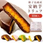 スイーツ 送料無料 「安納芋トリュフ10個入」 種子島純産100%使用   内祝い ギフト プレゼント ベルギーチョコ スイートポテト 洋菓子